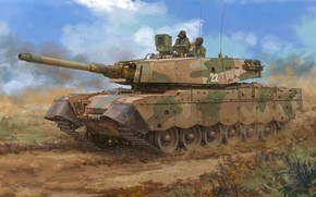 """Picture elephant, South Africa, modification of the British tank """"centurion"""", Olifant, South African main battle tank"""