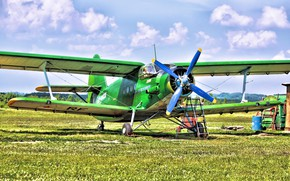 Picture Biplane, Anna, Airplane, The airfield, The plane, Biplane, An-2, Maize, Airfield, An-2, Annushka, Spotting, your …