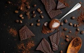 Picture coffee, chocolate, cream