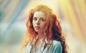 Picture look, girl, light, paint, portrait, Erika, Alexander Vinogradov