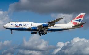 Picture Boeing, British Airways, 747-400
