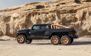 Picture side view, pickup, Rezvani, 2020, Hercules 6x6