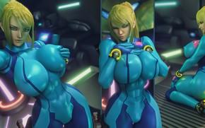 Picture ass, chest, girl, beauty, Tits, blonde, costume, ass, nintendo, samus aran, metroid, Zero Suit