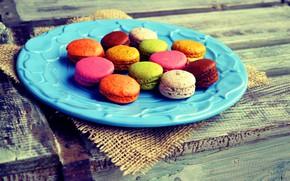 Picture colorful, dessert, sweet, sweet, dessert, cookies, macaron, almond, macaroon