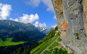 Picture the sky, clouds, mountains, Switzerland