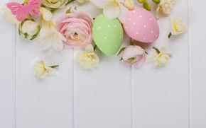 Picture flowers, holiday, spring, Easter, Buttercup