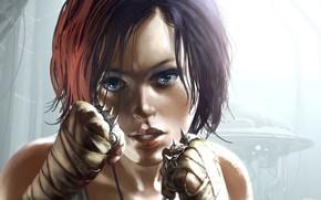 Picture girl, fists, Neuroshima, Tomasz Jedruszek