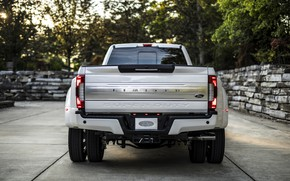 Picture Ford, body, rear view, pickup, 4x4, 2018, 440 HP, Super Duty, F-450, Limited, V8, 6.7 …