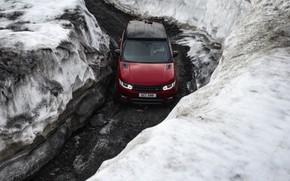 Picture snow, Land Rover, Range Rover, Range Rover Sport, 2016, V8, 510 HP, 5.5 L.