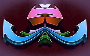 Picture color, arrows, figure