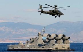 Picture ship, Greece, landing, Corfu