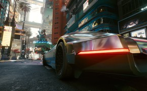 Picture The city, Car, Cyberpunk 2077, The future with the present, Cyberpunk 2077, Night city 2077