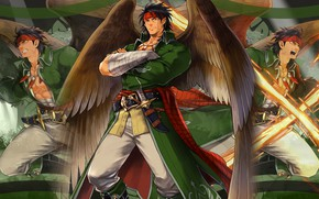 Picture the game, angel, fantasy, male, Fire Emblem