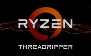 Picture background, AMD, dark, Ryzen, Threadripper