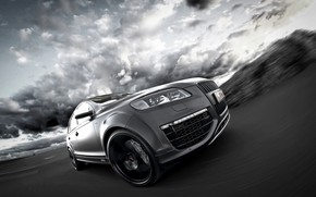 Picture Audi, TDI, 2012, in motion, V12, Quattro, SUV, Audi Q7, Fostla, Q7