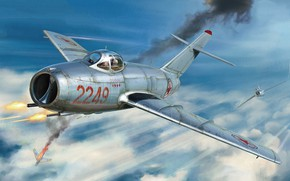 Picture fighter, China, Fagot, The DPRK, MiG-15bis, Война в Корее