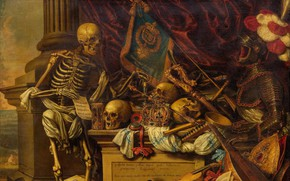 Picture memento, Memento Mori, Oil on canvas, Flemish painter, Flemish painter, Carstian Luyckx, Karsten Luix