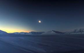 Picture winter, snow, Eclipse, Antarctica