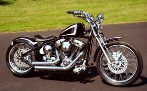 Picture Bike, Custom, Chrome, Motorbike