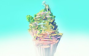 Picture Nature, Minimalism, Open, Trees, Mountain, Rock, Style, Height, Fantasy, Landscape, Nature, Rock, Art, Art, Landscape, …