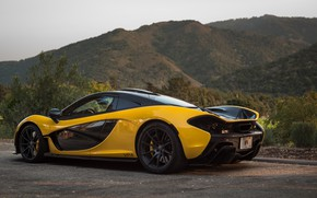 Picture Hills, Yellow, Supercar, McLaren P1