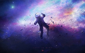 Picture Space, Nebula, Astronaut, Fragments, Astronaut, Color, Concept Art, Characters, Environments, by Paul Boy, Paul Boy, ...