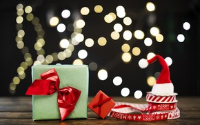 Picture Christmas, background, tape, gift