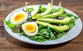 Picture greens, Board, food, eggs, plate, vegetables, dish, salad, submission, dish