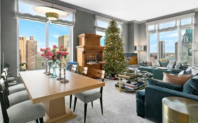 Picture tree, interior, Christmas, New year, New York, living room, dining room