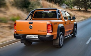 Picture Volkswagen, pickup, Amarok, on the road, Canyon, 2019