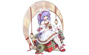 Picture girl, Christmas, anime, beautiful, pretty, attractive, handsome, Dewey, Azur Lane