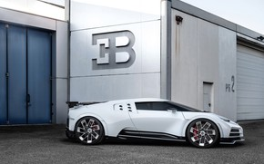 Picture machine, lights, gate, Bugatti, hypercar, One hundred and ten