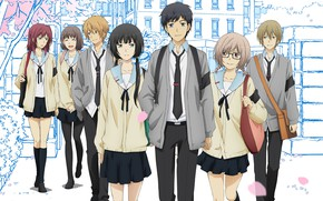 Picture anime, art, characters, students, ReLife
