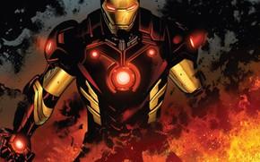 Picture Fire, Costume, Hero, Comic, Fire, Superhero, Hero, Armor, Iron man, Iron Man, Marvel, Marvel Comics, …