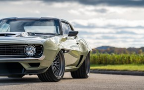 Picture Chevrolet, Disk, Wheel, 1969, Camaro, Lights, Chevrolet Camaro, Muscle car, Classic car, Wide Body Kit, …