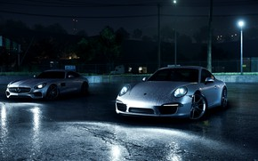 Picture Porsche, NFS, Mercedes AMG, 911 Carerra, Need For Speed 2016