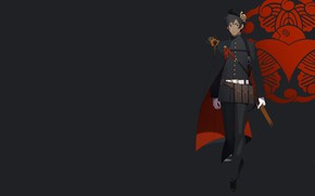 Picture anime, guy, black background
