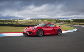 Picture Porsche, Speed, Asphalt, Cayman, Track, GT4, 2019, Porsche 718 (982) Cayman GT4