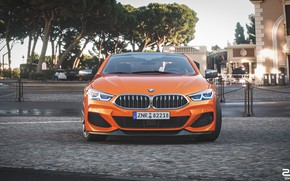 Picture Auto, BMW, Machine, Orange, Coupe, Rendering, The front, BMW 8 Series, M850i, Zoki Nanco, by …