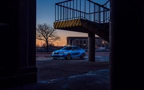 Picture BMW, German, Car, Blue, Front, Sport