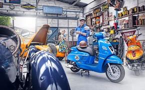 Picture Peugeot, Peugeot, scooter, Django, scooter, Peugeot Django Sport, custom retro scooter