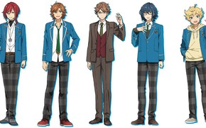 Picture guys, school uniform, characters, students, Ensemble Stars!, Ensemble stars