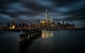 Picture night, the city, new york, newport marina
