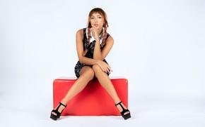 Picture sexy, model, legs, beauty, braids, sandals, Francesca