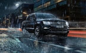 Picture rain, Volkswagen, pickup, Amarok, V6