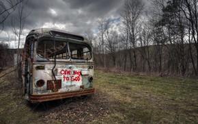 Picture background, bus, scrap