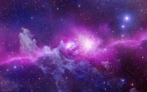 Picture pink, stars, galaxy