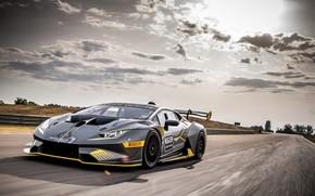 Picture speed, Lamborghini, racing car, 2018, Huracan, Super Trophy Evo