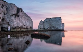 Picture rocks, shore, Dorset, Old Harry Rocks