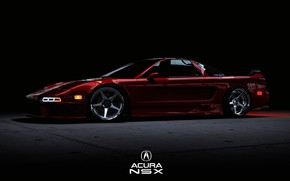Picture Red, Auto, Machine, Cherry, Rendering, Acura, NSX, Acura NSX, Transport & Vehicles, by Daniel W …
